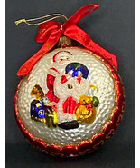 "Vintage Waterford Christmas Ornament Santa Claus FTD 4 1/2"" diameter - $16.44"