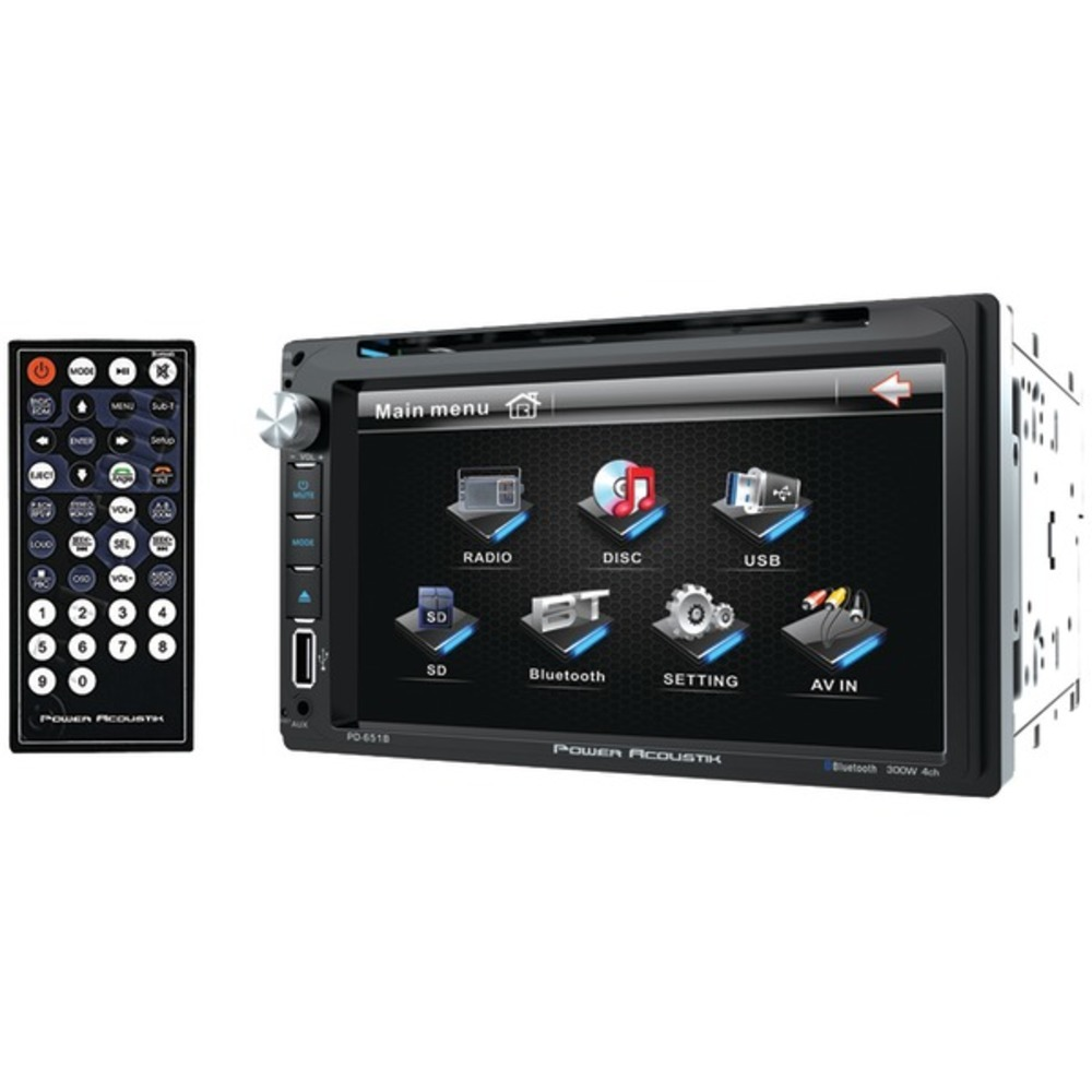 "Primary image for Power Acoustik PD-651B 6.5"" Double-DIN In-Dash LCD Touchscreen DVD Receiver (Wit"