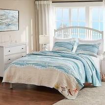 Greenland Home Maui Quilt Set, Full/Queen, Blue - $164.44