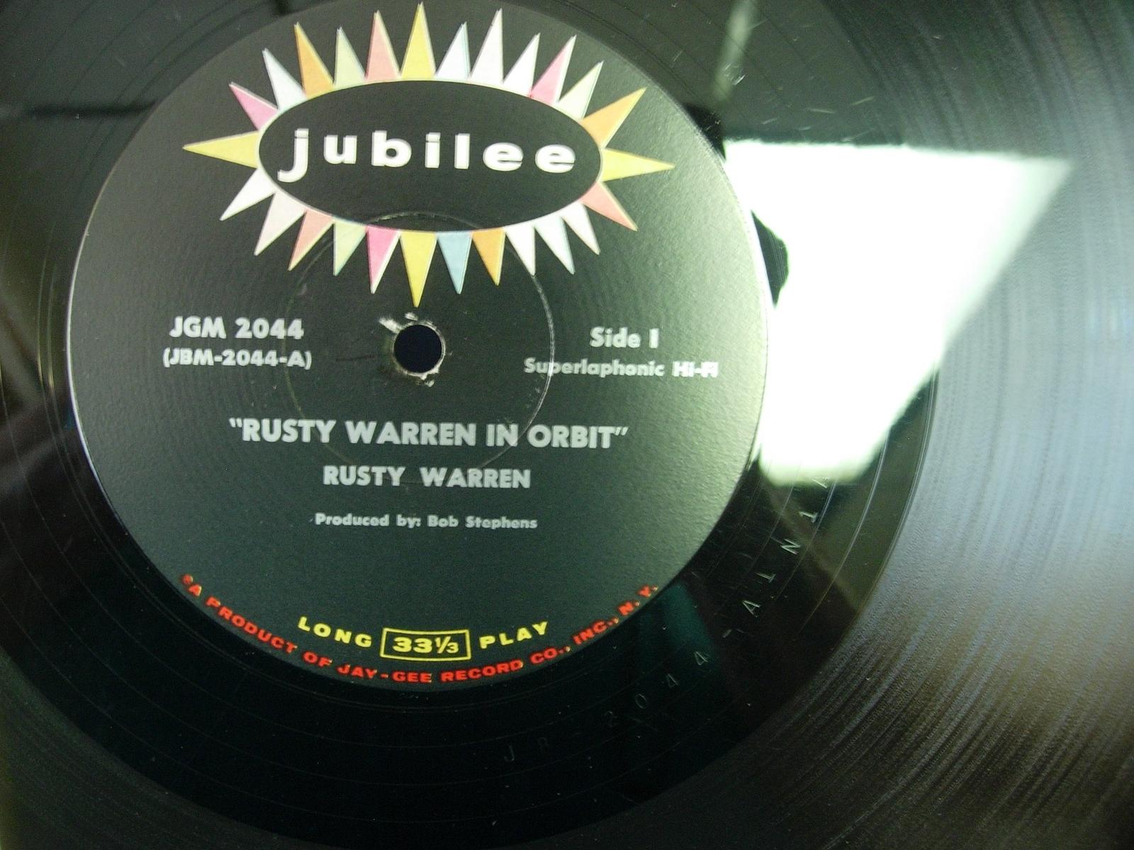 Rusty Warren in Orbit - Jubilee JGM 2044 - ADULT HUMOR