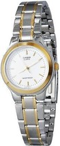 Casio Mens Stainless Steel Two Tone Baton Analog Dress Watch MTP-1131G-7ARDF - $79.55