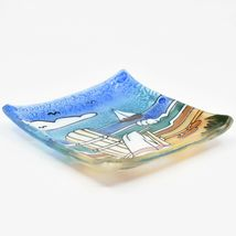 Fused Art Glass Adirondack Chair Summer Beach Design Soap Dish Handmade Ecuador image 3