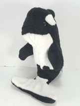 Sea World Shamu Busch Gardens Jumping Out Of Water Plush Orca Whale Stuffed - $14.84
