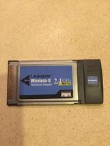 Cisco-Linksys WPC54G Wireless-G Notebook Adapter.                         A20
