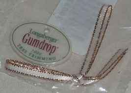 Longaberger 2004 Gumdrop Tree Trimming Christmas Basket Tie-on Retired - $9.80