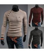 Aliexpress eBay autumn and winter Korean wine red sweater coat irregular... - $44.12