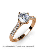 Luxx Ring (Rose Gold) - Embellished with Crystals from Swarovski® - $29.95