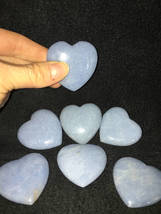 Angelite Heart ,45mm,Heal With Your Angels,Angelite Stone,Angelite Wand,... - $12.50
