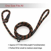 Standard Nylon Dog Leash Training Adjustable Pet Slip Lead for Dogs,5 Fe... - $8.39