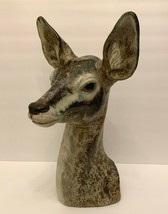 "Retired Lladro Large Deer Doe Head Sculpture Figurine 17 3/4"" Tall - $445.50"
