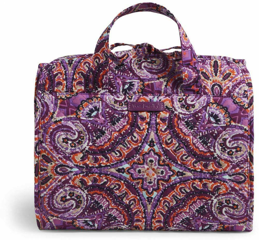 Vera Bradley Iconic Hanging Travel Organizer NWT Dream Tapestry Purple Packable