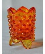 Fenton Glass Hobnail Orange Toothpick Holder #3795 OR  Listing 1 - $9.90
