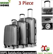 3 Piece Luggage Travel Set Bag ABS Trolley Suitcase Spinner Wheels for W... - $130.86