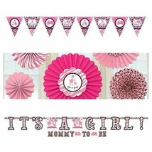 It's A Girl Safari Theme Baby Shower Decorations: Banner, Fans, Pennant ... - $8.72+