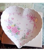 Mikasa Bone China Heart Shaped With All My Love Plate - $9.49