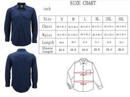 Men's Casual Western Pearl Snap Button Down Long Sleeve Cowboy Dress Shirt image 2