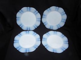 "4 MacBeth-Evans American Sweetheart Monax Opalescent Dep Glass 8"" Salad ... - $24.99"