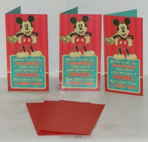 Hallmark XMH 414 4 Mickey Mouse Christmas Gift Card Holder Package 3