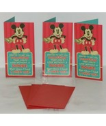 Hallmark XMH 414 4 Mickey Mouse Christmas Gift Card Holder Package 3 - $6.00
