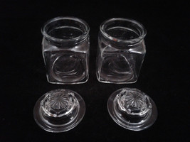 "3"" Square Indiana Glass Jars with Lids, Set of Two, #B4 - $22.00"