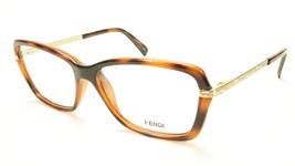 FENDI F1042R 238 Eyeglasses Frame Acetate Havana Italy Made 53-14-130, 36 - $149.52