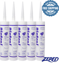 LOT SALE-Zered™ BioSeal Silicone Sealant Ge neral Purpose 10.1oz - Clear... - $27.99