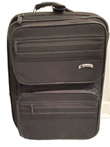 Delsey Expandable Carry-On Suitcase Luggage Rolling Black Travel - $55.55