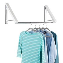 mDesign Expandable Metal Wall Mount Clothes Air Drying Rack - for Indoor Air Dry