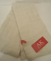 Ladies Women's Long Anne Klein Quilted Ivory Scarf, O/S - $43.07