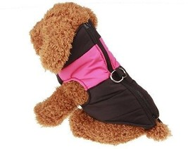 Kimfoxes Pet Winter Cotton Clothes Dog Warm Waterproof Jacket Cold Weat... - $19.37