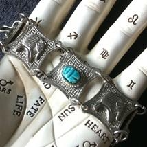 Vintage Scarab and Pharaoh Souvenir Panel Bracelet - $13.00