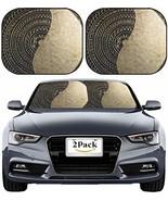 MSD Car Sun Shade Windshield Sunshade Universal Fit 2 Pack, Block Sun Gl... - $24.91