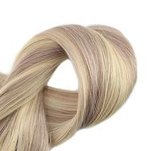Fshine Halo Crown Extensions Remy Human Hair Color 18 And 613 Blonde Highlighted image 4