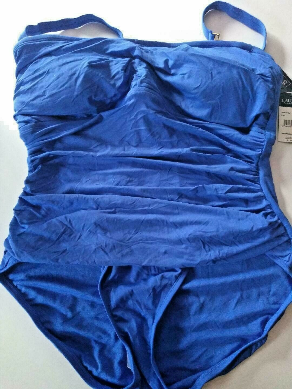 Ralph Lauren Blue One Piece Swimwear Size 16W