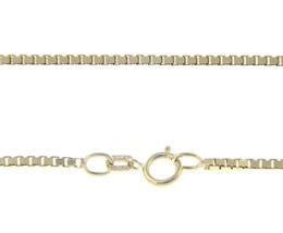 """SOLID 18K WHITE GOLD CHAIN 2mm VENETIAN SQUARE BOX 20"""", 50 cm, MADE IN ITALY image 1"""