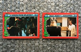 1991 Topps Teenage Mutant Ninja Turtles TMNT II Movie Cards Lot: #33 & #37 - $3.92