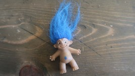 Vintage Pencil Top Blue Hair Troll Doll - $11.88