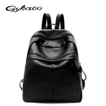 Black Women Backpacks Women's PU Leather Backpacks Female School Shoulder Bags f - $43.13