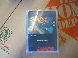 Starfox Star Fox Super Nintendo Snes Video Game Cartouche W/Manuel Vinta... - $28.09