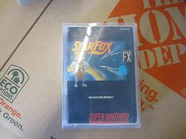 Starfox Star Fox Super Nintendo Snes Video Game Cartouche W/Manuel Vintage Rare - $28.09