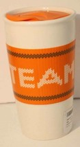 Starbucks Travel Mug & Lid Pumpkin Spice Latte Team PSL Ceramic Tumbler ... - $28.66