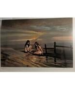 "VIOLET PARKHURST Women on Beach Naked Signed Numbered Litho 21"" x 15"" - $395.01"