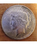 1922 Two Headed Silver Peace Dollar with FREE 24k GOLD Gift! - $9.99