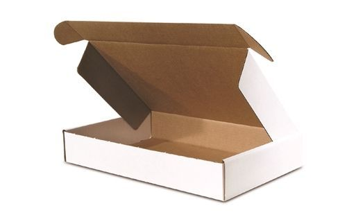 100 - 9 x 6 1/4 x 2  White -  DELUXE  - Front  Lock Protective Mailer Boxes