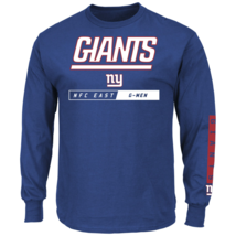 Majestic Men's NFL Primary Receiver Long-Sleeved Tee Giants M #NIO26-381 - $24.99