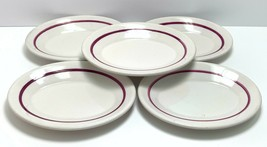HOMER LAUGHLIN Best China Small Oval Plates Platters Restaurant Ware Maroon - $31.49