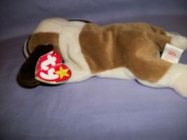 TY Beanie Babies Bernie The Tan & White Dog With Hang Tag 10/3/96 image 3