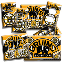 Boston Bruins Hockey Team Logo Light Switch Outlet Wall Plates Cover Room Decor - $9.89+