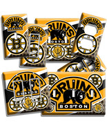 BOSTON BRUINS HOCKEY TEAM LOGO LIGHT SWITCH OUTLET WALL PLATES COVER ROO... - $8.99+