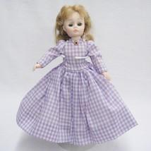 "Vintage Madame Alexander Meg Little Women Doll Lavender Check Dress 11"" ... - $14.10"